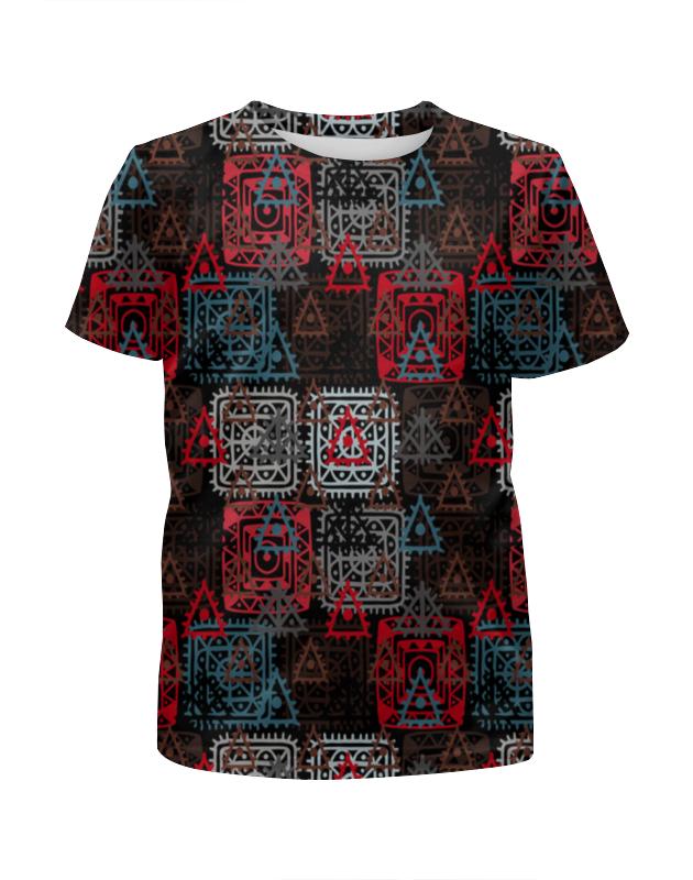 Футболка с полной запечаткой для мальчиков Printio Графический орнамент футболка с полной запечаткой для мальчиков printio геометрический орнамент