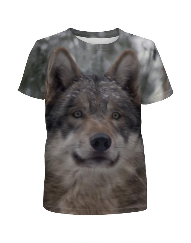 Футболка с полной запечаткой для мальчиков Printio Волк в лесу футболка с полной запечаткой мужская printio красная шапочка и серый волк