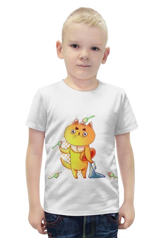 Футболка с полной запечаткой для мальчиков Printio Кот-обормот футболка с полной запечаткой для мальчиков printio bats spawn arsb