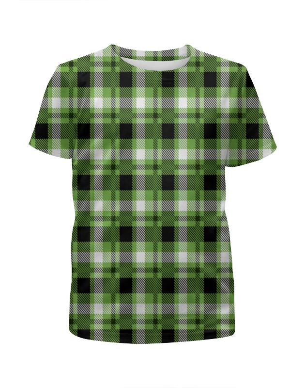 Футболка с полной запечаткой для мальчиков Printio Зеленая клетка футболка с полной запечаткой для мальчиков printio красная клетка