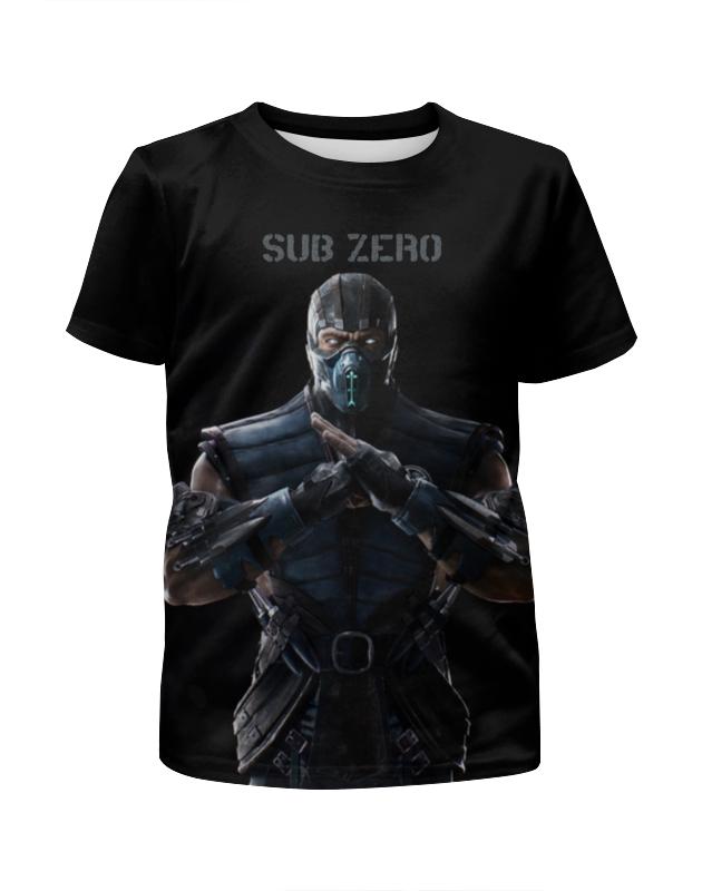 Футболка с полной запечаткой для мальчиков Printio Mortal kombat x (sub-zero) сумка с полной запечаткой printio mortal kombat x sub zero