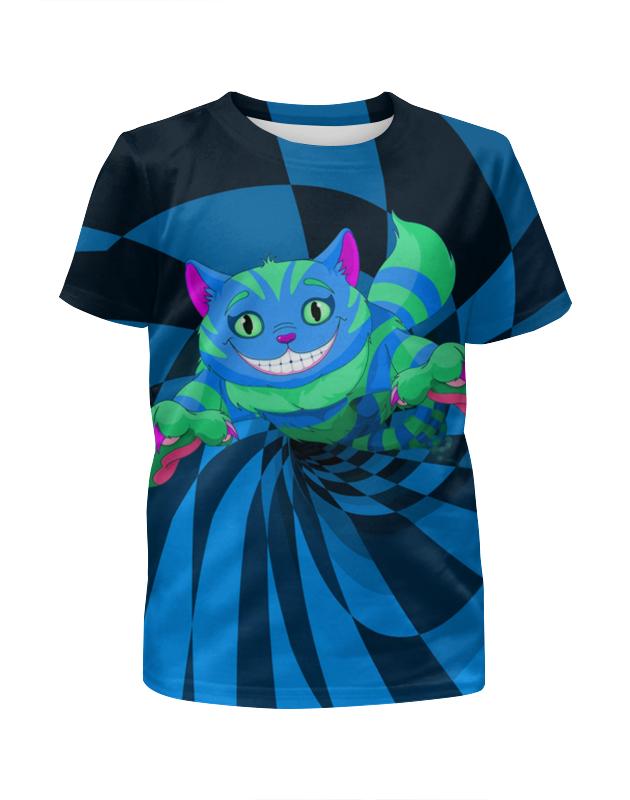Printio Чеширский котик футболка с полной запечаткой для мальчиков printio котик новогодний