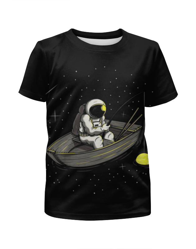 Футболка с полной запечаткой для мальчиков Printio Космическая рыбалка футболка с полной запечаткой для мальчиков printio кошечка