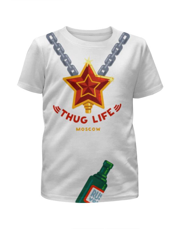 Футболка с полной запечаткой для мальчиков Printio Thug life (moscow) худи print bar deadpool thug life