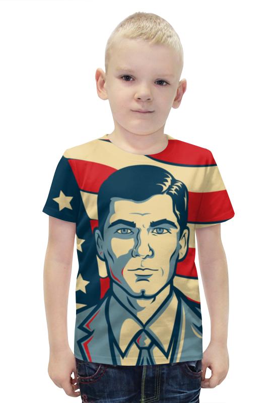 Футболка с полной запечаткой для мальчиков Printio Арчер футболка с полной запечаткой для мальчиков printio bats spawn arsb