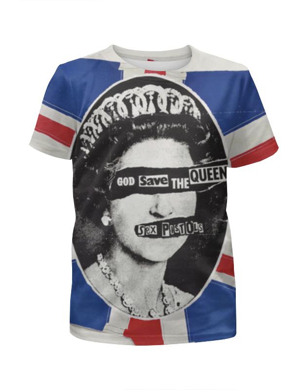 Футболка с полной запечаткой для мальчиков Printio God save the queen (sex pistols) блузка understanding the queen s003 2015