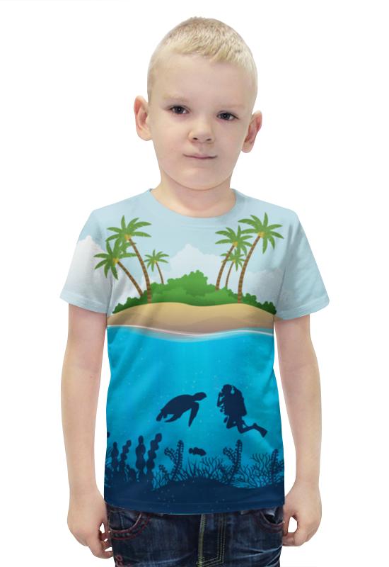 Футболка с полной запечаткой для мальчиков Printio Дайвинг футболка с полной запечаткой для мальчиков printio bats spawn arsb