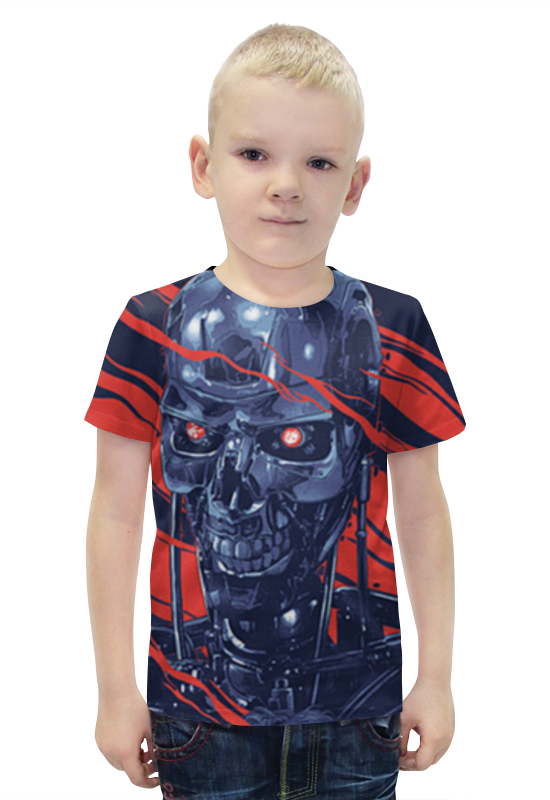Футболка с полной запечаткой для мальчиков Printio Терминатор футболка с полной запечаткой для мальчиков printio bats spawn arsb