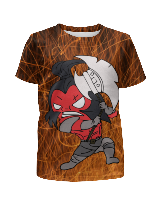 Футболка с полной запечаткой для мальчиков Printio Герой доты 2 axe в 3d футболка доты для девушек