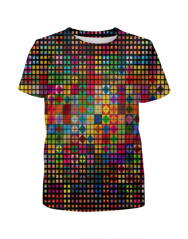 Футболка с полной запечаткой для мальчиков Printio Яркая мозаика футболка с полной запечаткой для мальчиков printio мозаика
