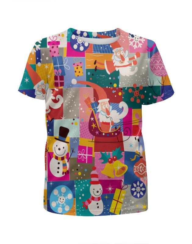 Футболка с полной запечаткой для мальчиков Printio Санта и подарки футболка с полной запечаткой для девочек printio подарки