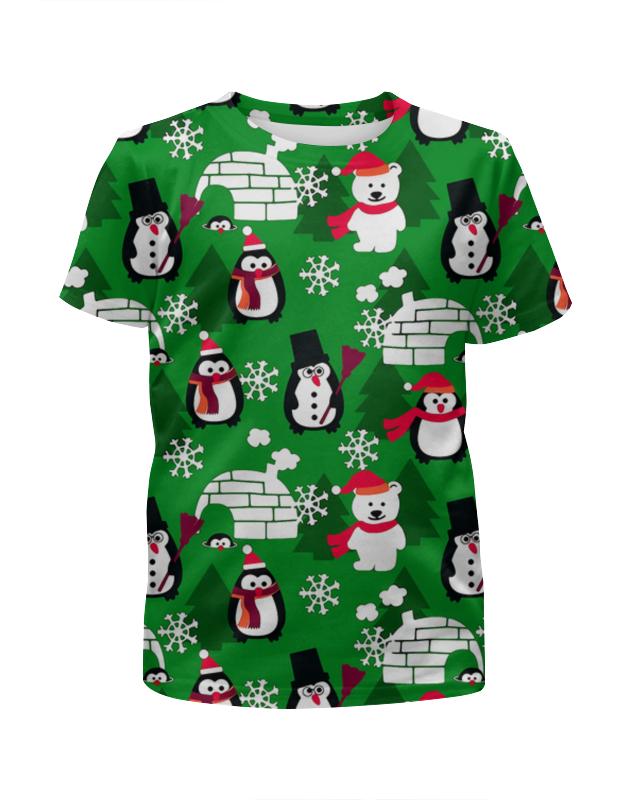 Футболка с полной запечаткой для мальчиков Printio Новогодняя футболка с полной запечаткой для мальчиков printio пес летчик