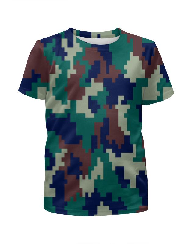 Футболка с полной запечаткой для мальчиков Printio Пиксельный камуфляж футболка с полной запечаткой для мальчиков printio серый пиксельный камуфляж