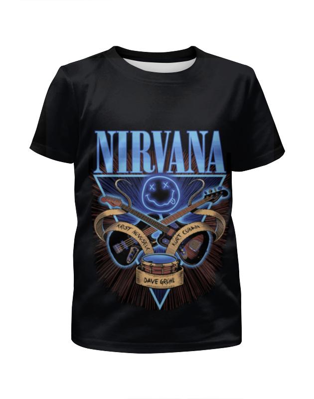 Футболка с полной запечаткой для мальчиков Printio Nirvana футболка с полной запечаткой для мальчиков printio nirvana bleach full print