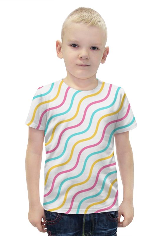 Футболка с полной запечаткой для мальчиков Printio Волны футболка с полной запечаткой для мальчиков printio bats spawn arsb