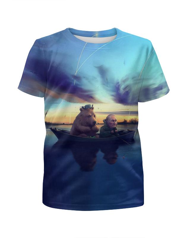 Printio Ночная рыбалка футболка с полной запечаткой для мальчиков printio медвежья рыбалка