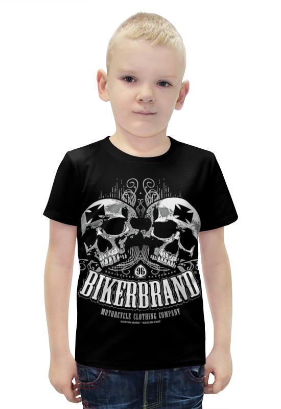 Футболка с полной запечаткой для мальчиков Printio Bikerbrand футболка с полной запечаткой для мальчиков printio bats spawn arsb