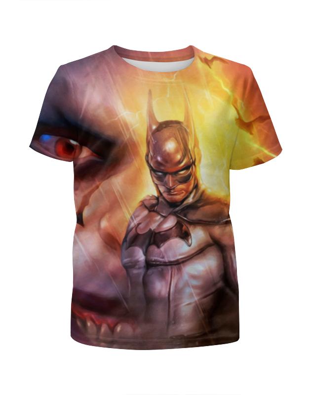 Футболка с полной запечаткой для мальчиков Printio Бэтмен / batman футболка с полной запечаткой для девочек printio batman x joker бэтмен