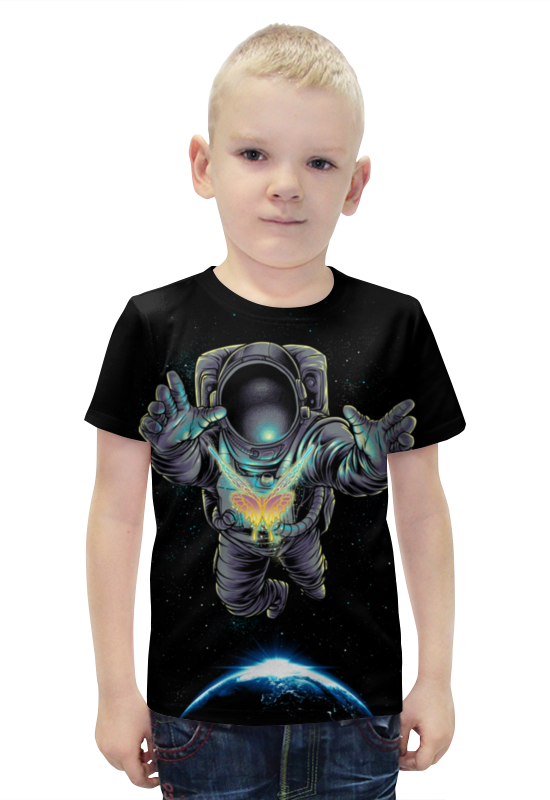 Футболка с полной запечаткой для мальчиков Printio Космонавт футболка с полной запечаткой для мальчиков printio bats spawn arsb