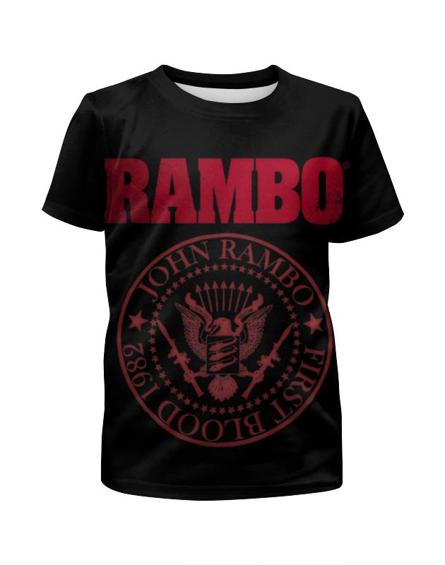 Футболка с полной запечаткой для мальчиков Printio Rambo цена и фото