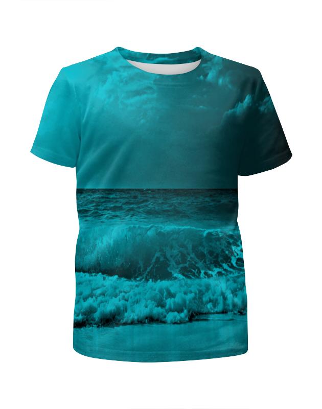 Футболка с полной запечаткой для мальчиков Printio Морские волны футболка с полной запечаткой для мальчиков printio кошечка