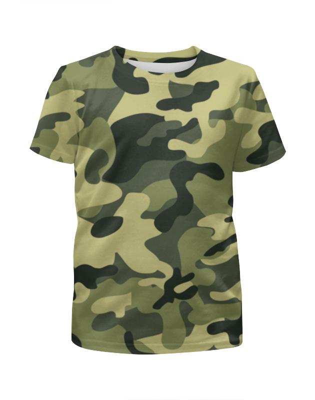 Футболка с полной запечаткой для мальчиков Printio Зеленый хаки футболка цвета хаки