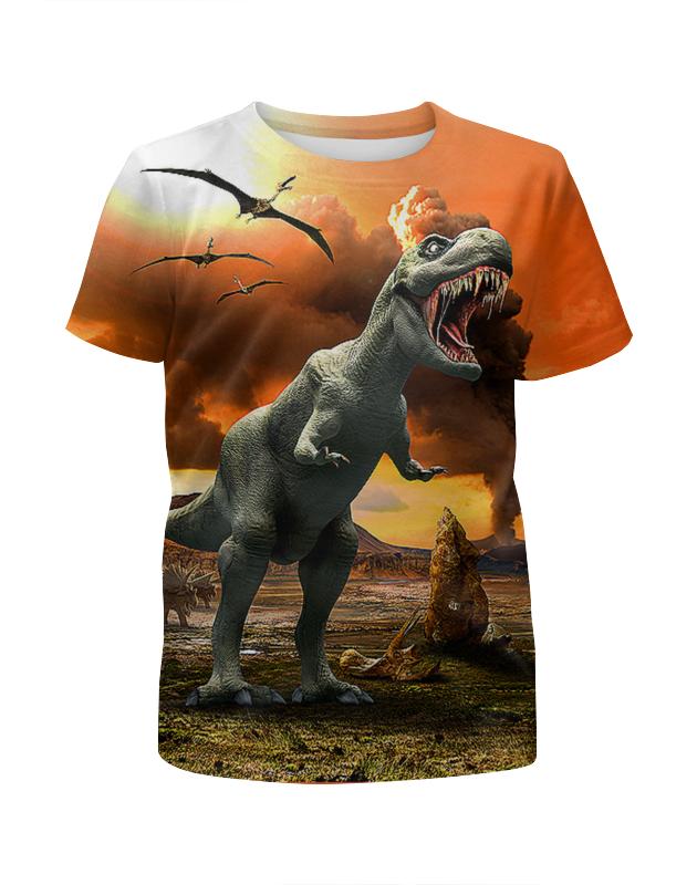 Футболка с полной запечаткой для мальчиков Printio Динозавры футболка с полной запечаткой для мальчиков printio механик