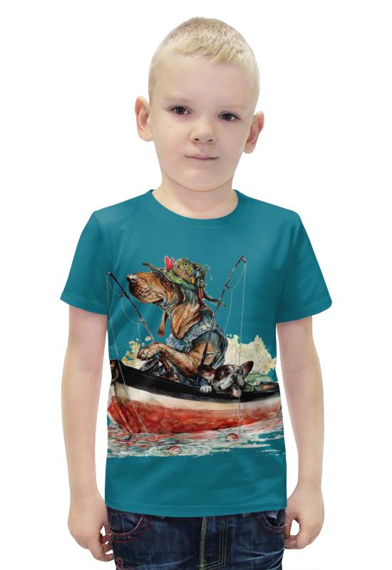 Футболка с полной запечаткой для мальчиков Printio Рыбалка футболка с полной запечаткой для мальчиков printio bats spawn arsb