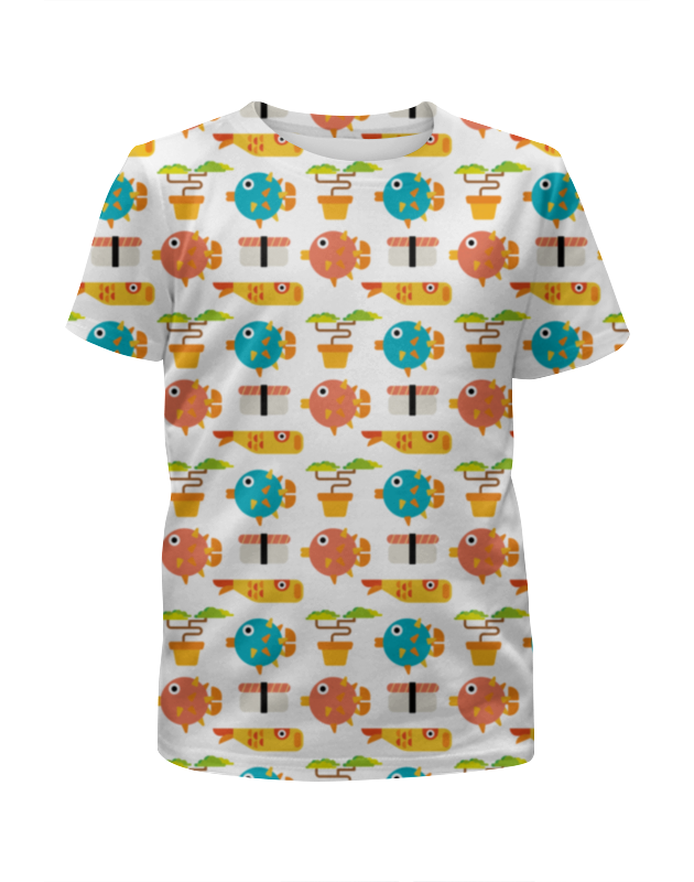 Футболка с полной запечаткой для мальчиков Printio Рыбки футболка с полной запечаткой для мальчиков printio braaaaatnsssss