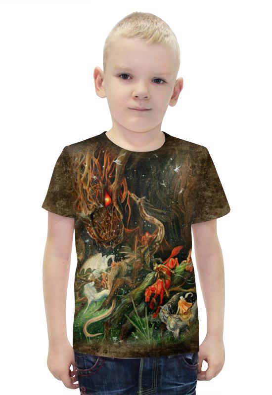Футболка с полной запечаткой для мальчиков Printio Сумрак волшебной рощи футболка с полной запечаткой printio война миров z