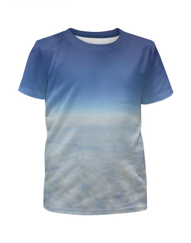 Футболка с полной запечаткой для мальчиков Printio Небесная синева футболка с полной запечаткой женская printio синева