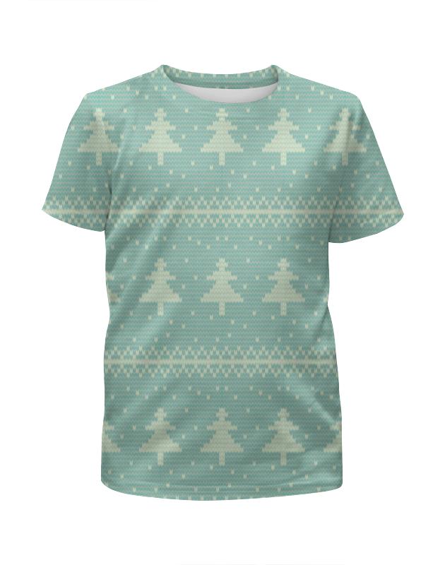 Футболка с полной запечаткой для мальчиков Printio Новогодняя елка футболка с полной запечаткой для мальчиков printio футбольная мозайка фернандо торрес