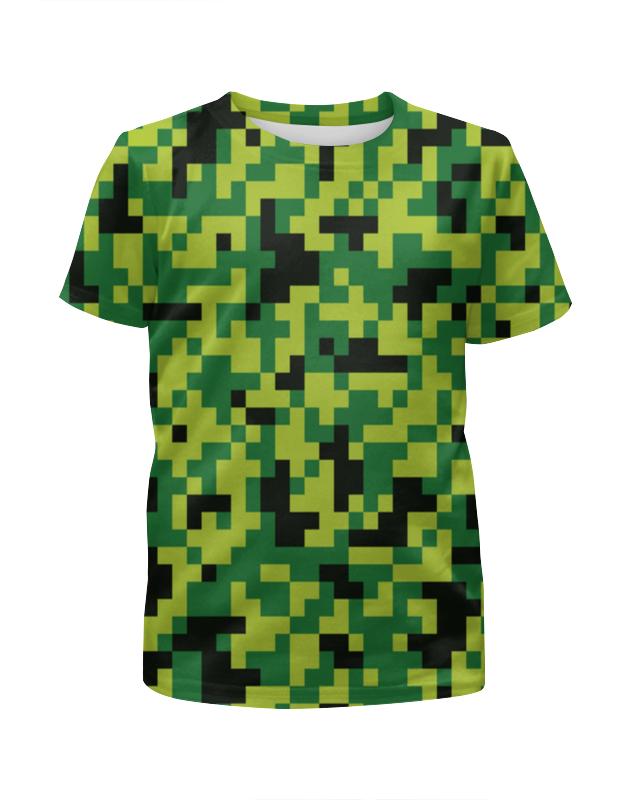 Футболка с полной запечаткой для мальчиков Printio Зеленые кубики футболка print bar кубики