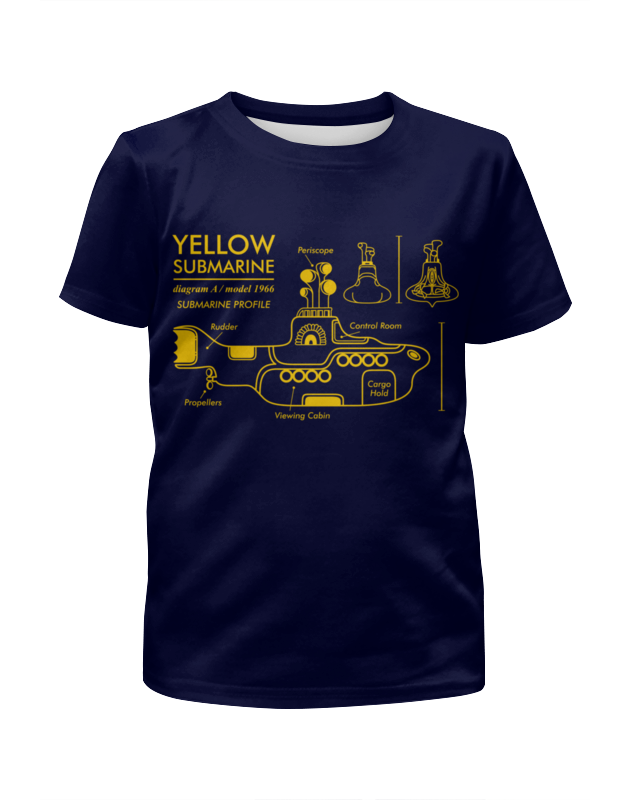 Футболка с полной запечаткой для мальчиков Printio Yellow submarine магнит the beatles yellow submarine