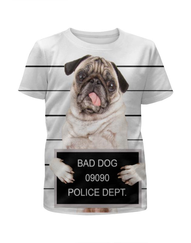 Футболка с полной запечаткой для мальчиков Printio Bad dog футболка с полной запечаткой для мальчиков printio sly old dog