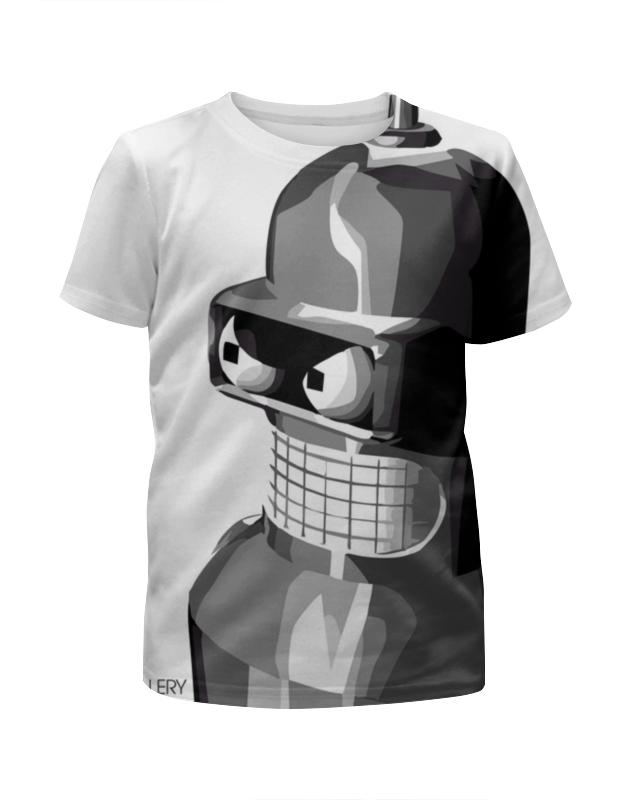 Футболка с полной запечаткой для мальчиков Printio Бендер (футурама) футболка с полной запечаткой мужская printio бендер