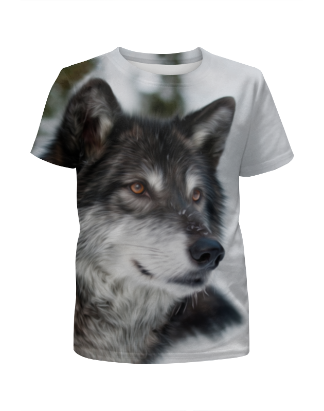 Футболка с полной запечаткой для мальчиков Printio Серый волк футболка с полной запечаткой для мальчиков printio волк