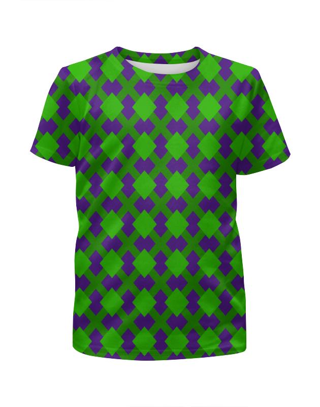 Футболка с полной запечаткой для мальчиков Printio Зеленая графика зеленая футболка