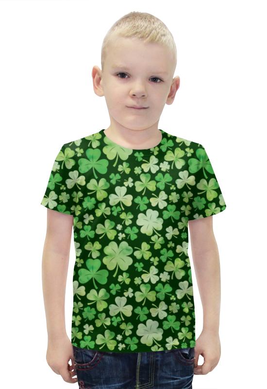 Футболка с полной запечаткой для мальчиков Printio Клевер футболка с полной запечаткой для мальчиков printio bats spawn arsb