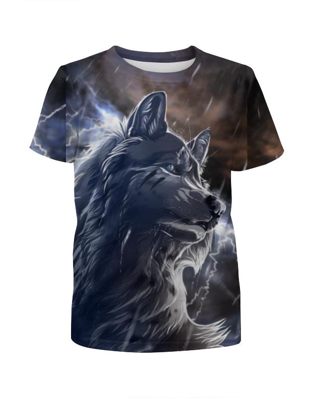 Футболка с полной запечаткой для мальчиков Printio Волк и молнии футболка с полной запечаткой для мальчиков printio волк
