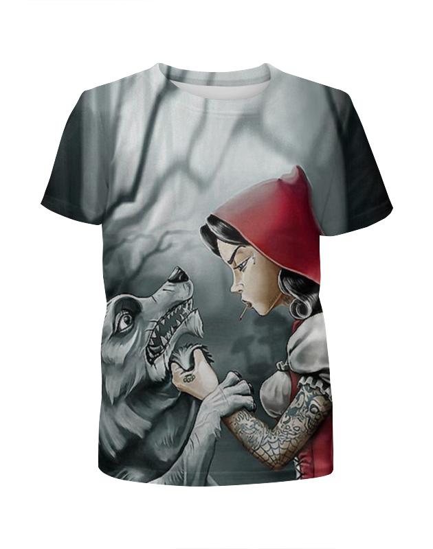 Футболка с полной запечаткой для мальчиков Printio Красная шапочка и серый волк футболка с полной запечаткой женская printio красная шапочка и серый волк 3