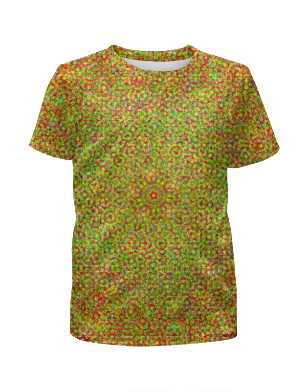 Футболка с полной запечаткой для мальчиков Printio Glitch art (солнечное сплетение) футболка с полной запечаткой для девочек printio glitch art чёрная дыра