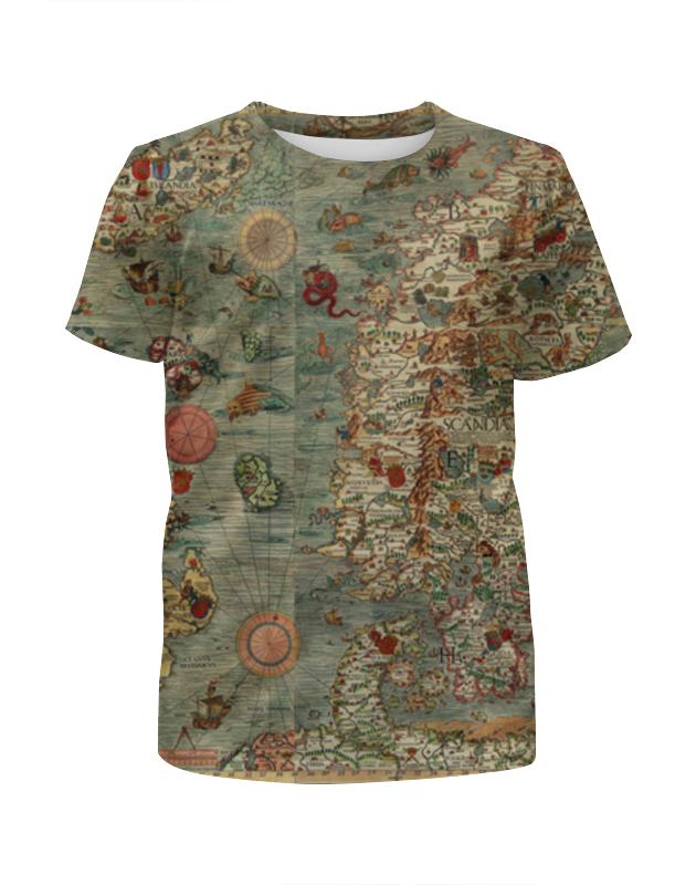 Футболка с полной запечаткой для мальчиков Printio Old map футболка с полной запечаткой мужская printio old map page 3