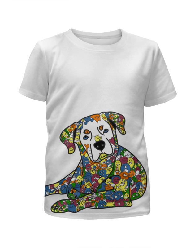 Футболка с полной запечаткой для мальчиков Printio Собака из дудл монстров рубашка поло с полной запечаткой printio собака из дудл монстров