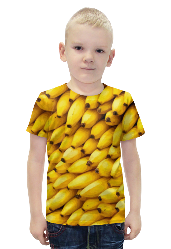 Футболка с полной запечаткой для мальчиков Printio Бананы 3d