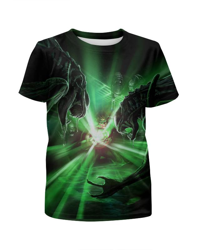 лучшая цена Printio Green lantern vs aliens