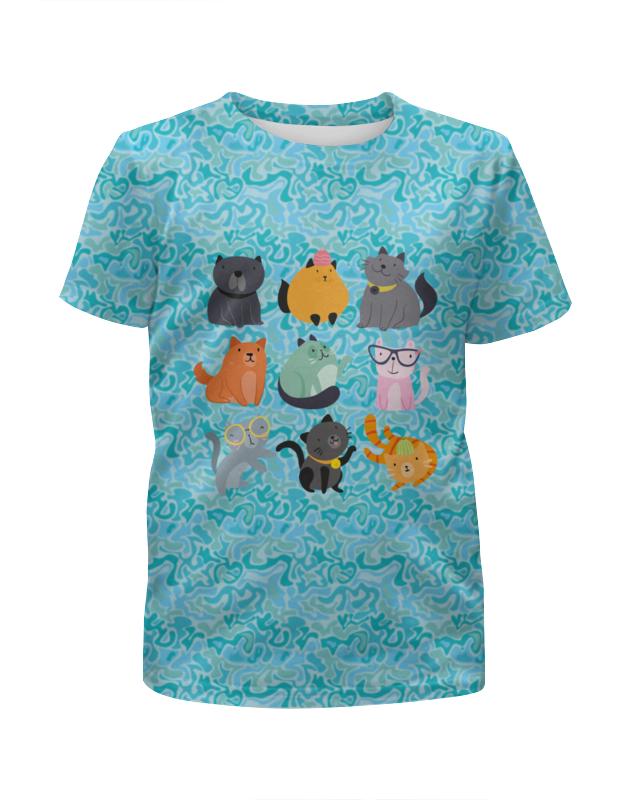 Футболка с полной запечаткой для мальчиков Printio Цветные кошки для кошки