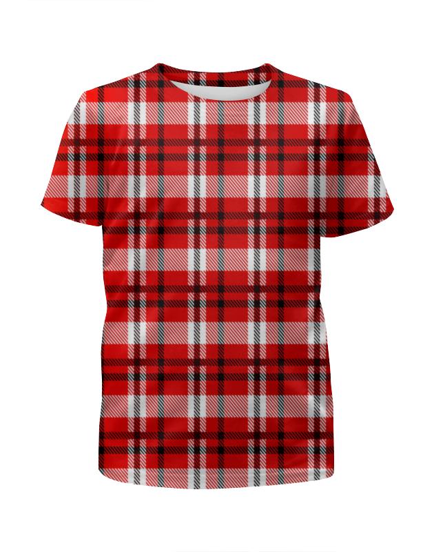 Футболка с полной запечаткой для мальчиков Printio Красная клетка футболка с полной запечаткой для мальчиков printio красная клетка