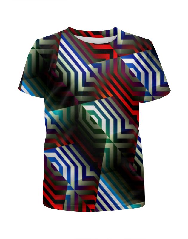 Футболка с полной запечаткой для мальчиков Printio Цветной орнамент футболка с полной запечаткой для мальчиков printio геометрический орнамент