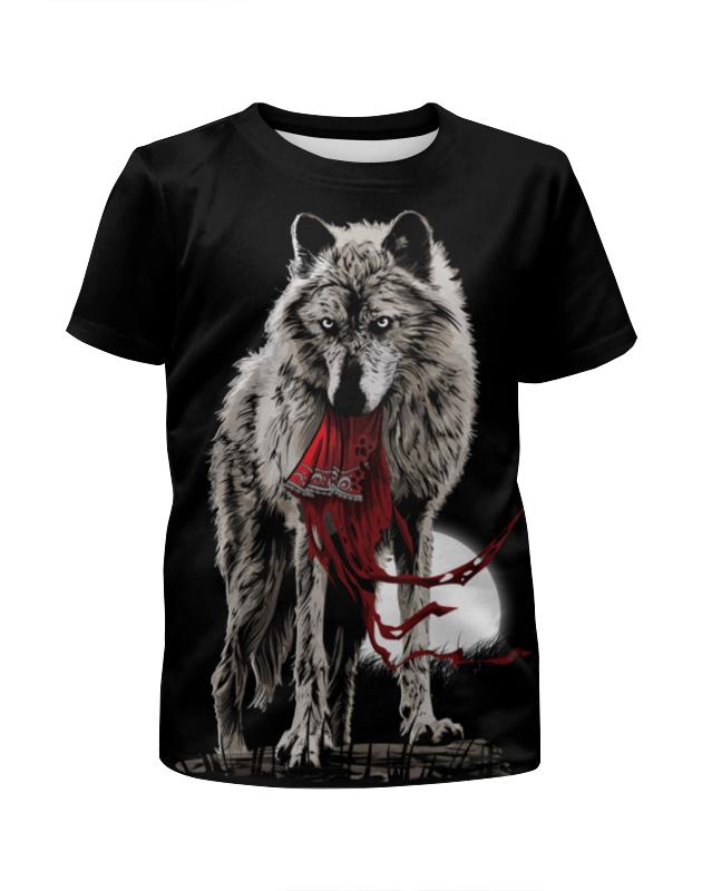 Футболка с полной запечаткой для мальчиков Printio Серый волк футболка с полной запечаткой для мальчиков printio bats spawn arsb